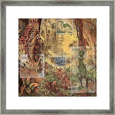 Dinosaurs In Place Framed Print by Bellesouth Studio
