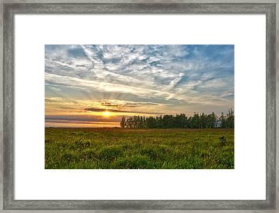 Dintelse Gorzen Sunset Framed Print