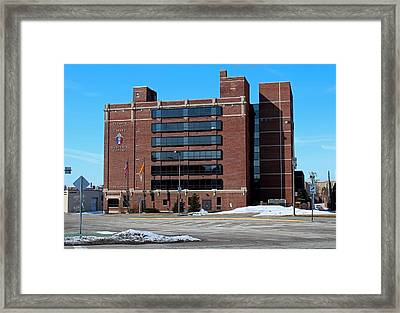 Framed Print featuring the photograph Diocese Of Toledo In Winter by Michiale Schneider