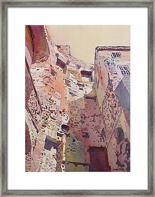 Diocletian Courtyard Framed Print by Jenny Armitage
