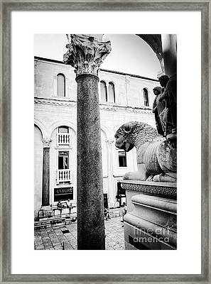 Diocletian's Palace Watchers Framed Print by JMerrickMedia