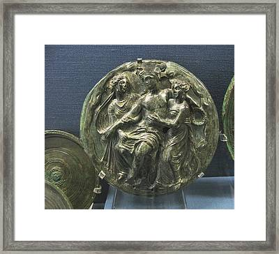 Dionysos With Maenads Framed Print by Andonis Katanos