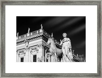 Dioscuri In Rome, Italy. Framed Print