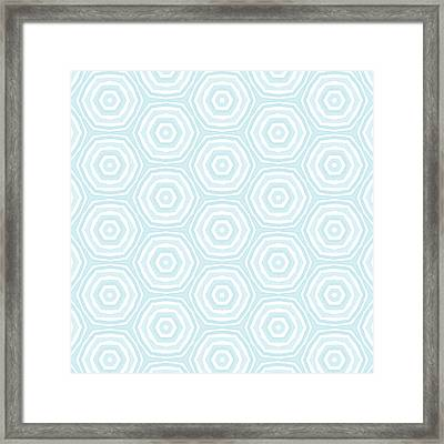 Dip In The Pool -  Pattern Art By Linda Woods Framed Print
