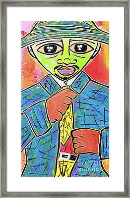 Dipped And Dapper Framed Print