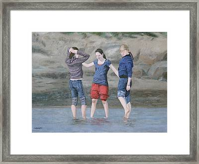 Dipping In The Water Framed Print