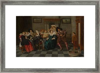 Dirck Hals    A Banquet Framed Print