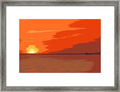 Direct Hit Framed Print