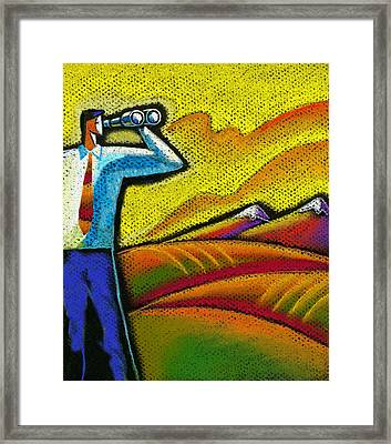 Direction To Destination Framed Print by Leon Zernitsky