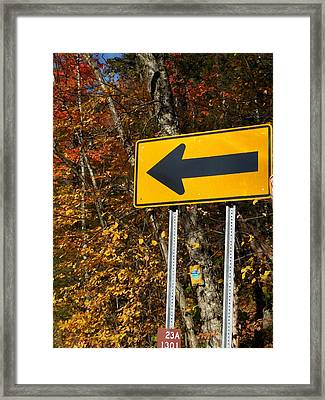 Directional Arrow Road Signs 1 Framed Print by Lanjee Chee