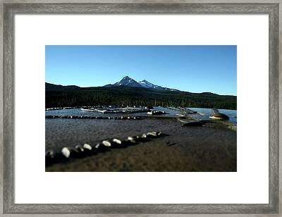 Framed Print featuring the photograph Directional Points by Laddie Halupa