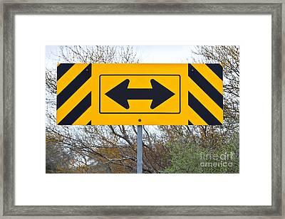 Directional Traffic Sign Framed Print