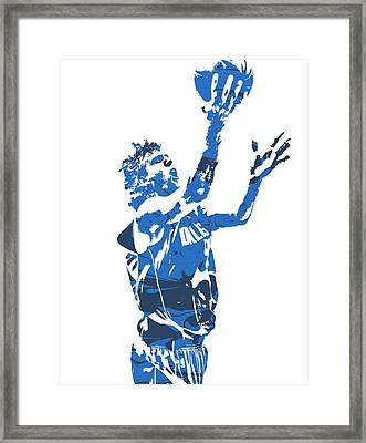 Dirk Nowitzki Dallas Mavericks  Pixel Art 5 Framed Print