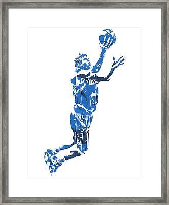 Dirk Nowitzki Dallas Mavericks  Pixel Art 7 Framed Print