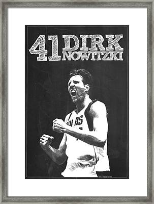Dirk Nowitzki Framed Print