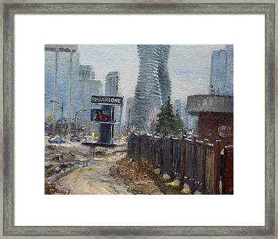 Square One Mississauga Framed Print by Ylli Haruni