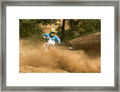 Dirt Bike Framed Print by Pat Eisenberger