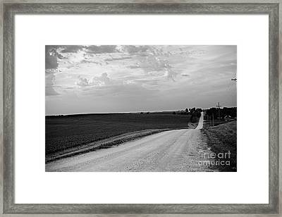 Framed Print featuring the photograph Dirt Road by Sandy Adams
