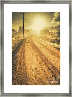 Dirt Road Sunrise Framed Print by Jorgo Photography - Wall Art Gallery