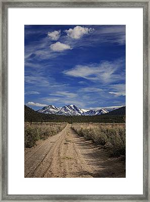 Dirt Road View Framed Print by Cat Connor