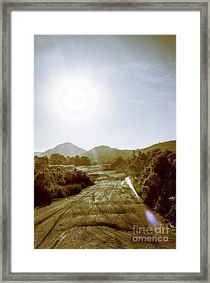 Dirt Roads Of Outback Tasmania Framed Print