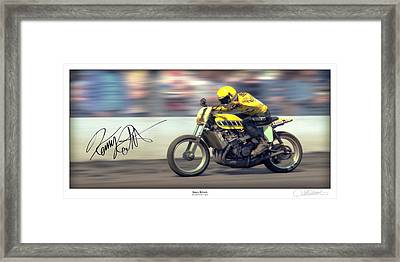 Dirt Speed Framed Print