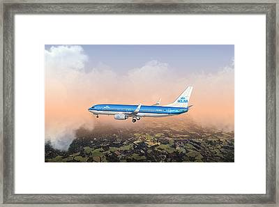 Dirty 737ng 28.8x18 Framed Print