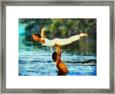 Dirty Dancing Framed Print by Elizabeth Coats