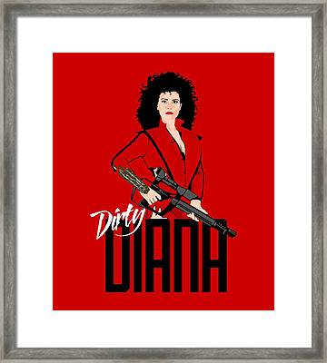 Dirty Diana Framed Print by Mos Graphix