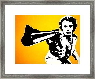 Dirty Harry Framed Print by Dan Carman