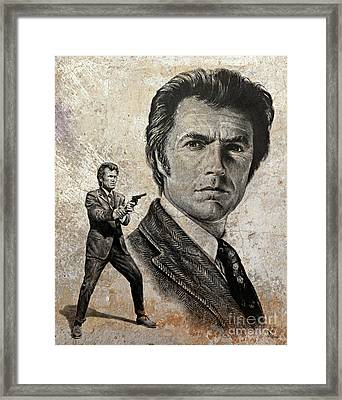 Dirty Harry  Make My Day Version Framed Print by Andrew Read