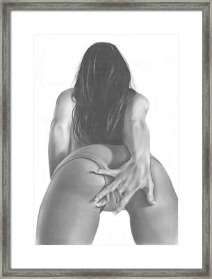 Dirty Lil Secret Framed Print by Pete Tapang