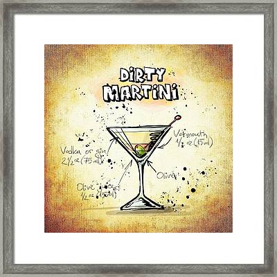 Dirty Martini  Framed Print by Movie Poster Prints