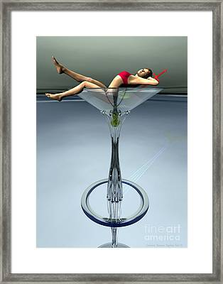 Dirty Martini Framed Print by Sandra Bauser Digital Art
