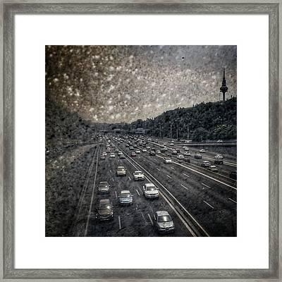 Dirty Piruli #madrid #traffic #street Framed Print