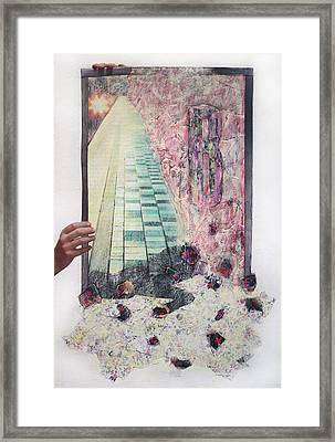 Framed Print featuring the painting Dirty Slumber  by Geraldine Gracia