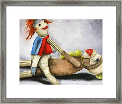 Dirty Socks 2 Still Dirty Framed Print by Leah Saulnier The Painting Maniac
