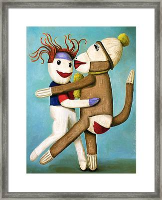 Dirty Socks Dancing The Tango Framed Print by Leah Saulnier The Painting Maniac