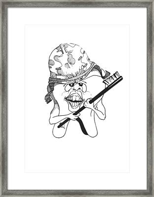 Dis Framed Print by Julio Lopez