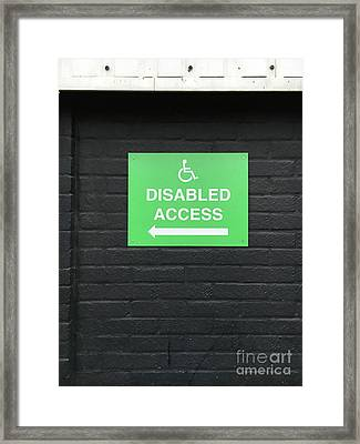 Disabled Access Sign Framed Print