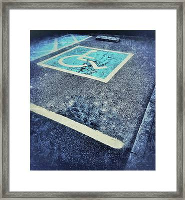 Disabled Parking Space Framed Print