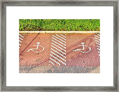 Disabled Parking Framed Print by Tom Gowanlock