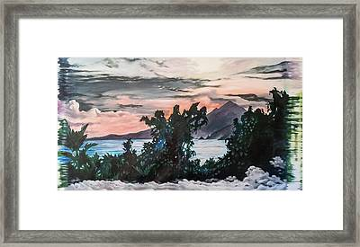 Disapearing Landscape #1 Framed Print