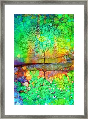 Disappearing In Colour Framed Print