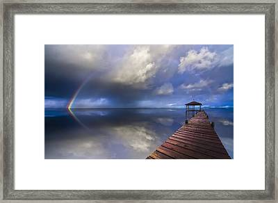 Disappearing Rainbow Framed Print by Debra and Dave Vanderlaan