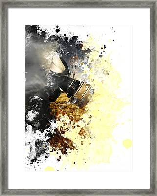 Disaster Of War And Gas Framed Print