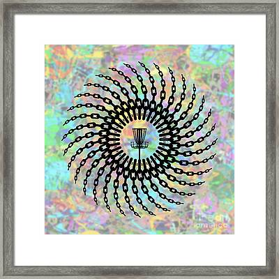 Disc Golf Basket Chains Framed Print