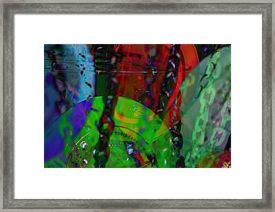 Disc Golf Neon Framed Print by Robert Glover