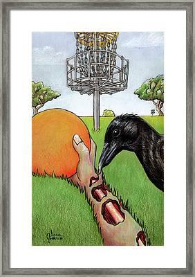 Disc Golf Nightmare Framed Print