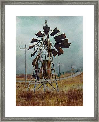Discarded Along The Road Framed Print by Marcus Moller